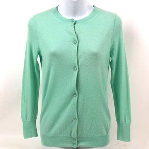 J Crew Cashmere Cardigan Long Sleeve  Button